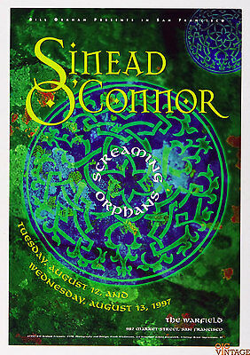 Sinead O'Connor Poster Screaming Orphans Bill Graham Presents #170 1997 Aug 13