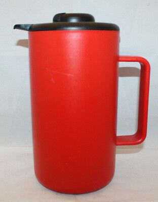 Bodum Denmark Bistro Vacuum Thermo Jug Carafe 1.0L Red Black Handle