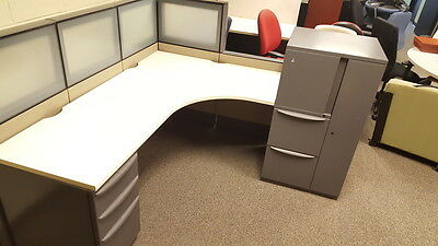 Haworth Premise 6x6 Benching Cubicles