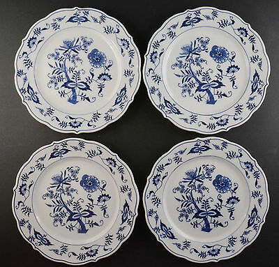 "Blue Danube Four Luncheon Plates Banner Backstamp (8 5/8"")"