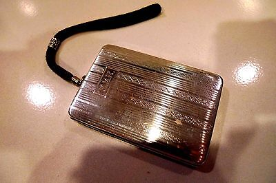 "Vintage Sterling Silver Ladies Compact   ""wood & Hughes Silver Co.""  **1890**"