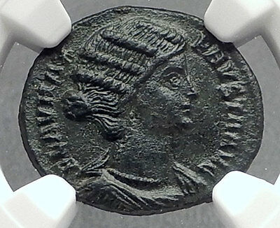 FAUSTA Constantine the Great Wife 324AD Authentic Ancient Roman Coin NGC i60246