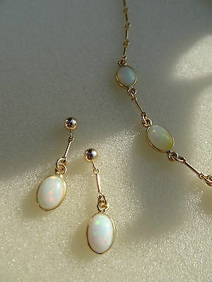 Opal Ohrstecker, Opal Ohrringe, 585 Goldfilled
