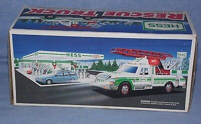 1994 HESS Toy Rescue Truck New In Box