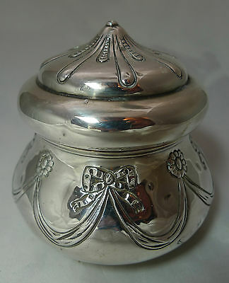 Edwardian Silver Tea Caddy William Comyns London 1902 149g A591816