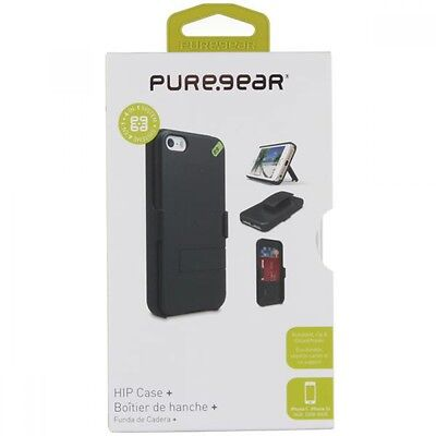 PureGear Apple iPhone 5 5S SE HIP Credit Card Case Holster Combo W/ Belt Clip