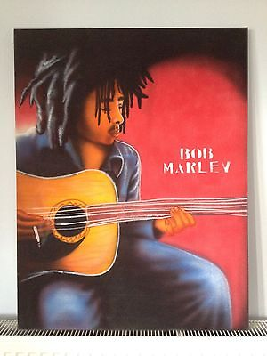 Bob Marley Original Unique Painting On Canvas Caribbean Artist