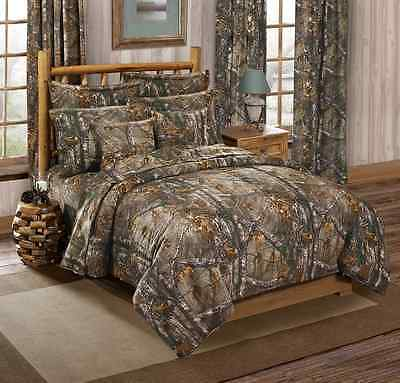 Realtree All Purpose Camouflage 4 Pc Full Size Comforter Set Hunting
