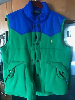 Polo Ralph Lauren vest green plaid size Medium M new without tags