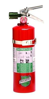 NEW Buckeye Halon  5 lb. Fire Extinguisher w/ 2 signs & inspec. tag & bracket