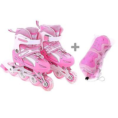 Girls Inline Skates Adjustable Rollerblades for Kids Girls S size with guard ...