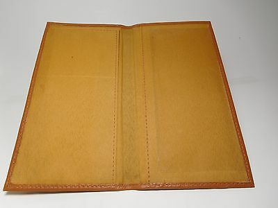 Roma Tan Basic Standard Soft Padded Genuine Leather Checkbook Cover-First #3218