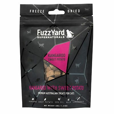 10x Fuzzyard Supernaturals Kangaroo & Sweet Potato 40G Natural Cat Kitten Treats