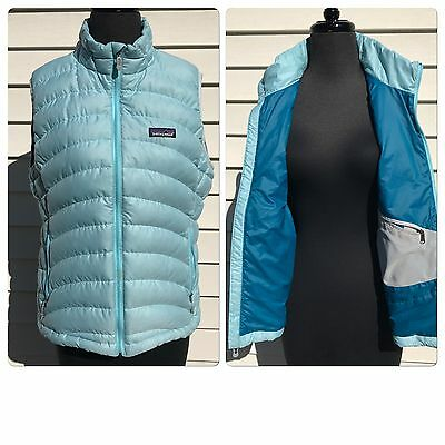 Patagonia Women's Size L Light Blue Down Sweater Lightweight Vest