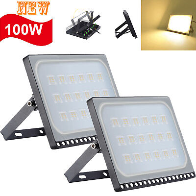 5X 50W Warm White LED SMD Flood Light Outdoor Path Lamp Security Floodlight 240V