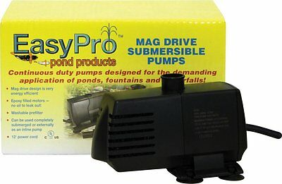 EasyPro EP400 Submersible Mag Drive Pond Pump Max Flow 400 GPH