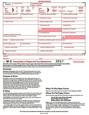 Official Irs Tax Form W 3c Transmittal Of Corrected Wage And Tax