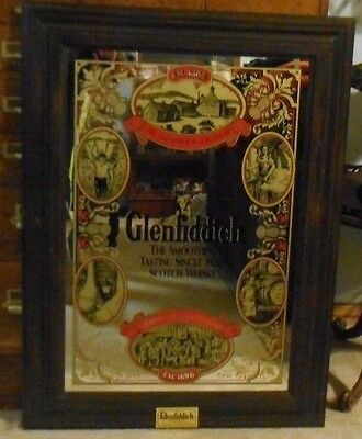 Glenfiddich Single Malt Scotch Whiskey Large Mirror Sign Ad LOCAL PICK UP ONLY!!