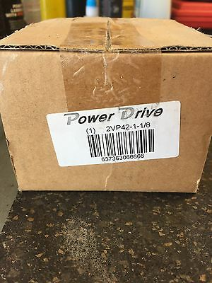"""POWER DRIVE  2VP42 1 1/8 BORE 2 groove 4.2"""" VARIABLE PITCH sheave pulley"""