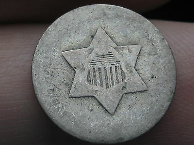 Three 3 Cent Silver Piece- Old Type Coin