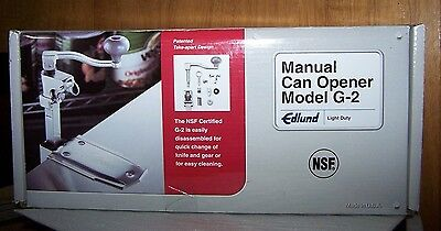 """Edlund G-2 NSF Manual Commercial Can Opener with 16"""" Adjustable Bar and Base"""
