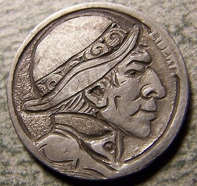 """Hobo Nickel, Engraved, Carved ,Scrimshaw,Coin Art, """" Young  Jim ,.. """""""