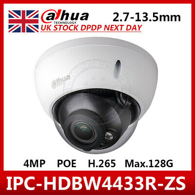 UK STOCK DaHua IPC-HDBW4431R-ZS 4MP PoE Dome IP Camera 2.8-12mm Motorized