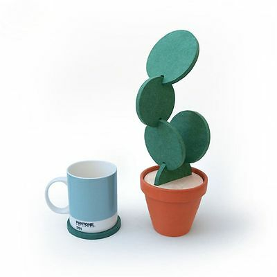 Decoration Novelty Cup Mat Heat Insulation Cactus Potted Coasters Nonslip Pad