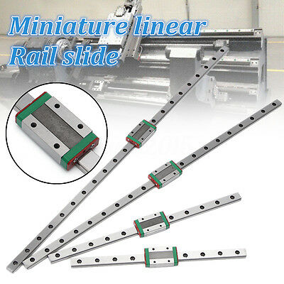 12mm Miniature Linear Slide Rail Guide + MGN12H Sliding Block DIY CNC 3D Printer
