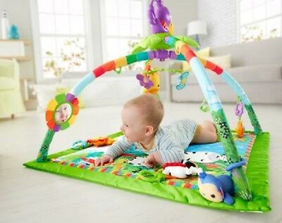 Baby Play Mat Newborn Rug Pad Cushion Music Light Gym Infant Child Safe Portable