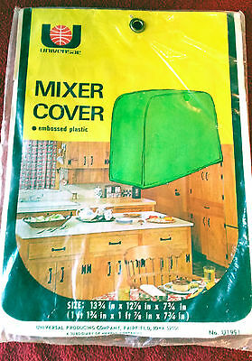 Vtg 1971 UNIVERSAL Quilted Embossed MIXER COVER Plastic Mid Century NIP