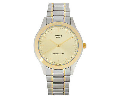 Casio Men's 36mm MTP1128G-9A Metal Watch - Silver/Gold