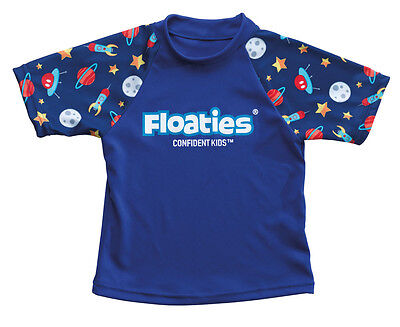Floaties Boys' Rash Vest - Rocket Ship