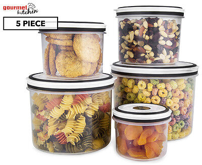 Gourmet Kitchen 5-Piece Storage Canister