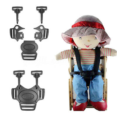 5-Point Baby Stroller Pram Buggy Chair Harness Lock Clip Safe Belt Strap Buckle
