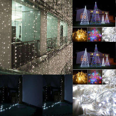 100 LED 10m String Lights Lighting Bright Warm White/White 110V Indoor Outdoor