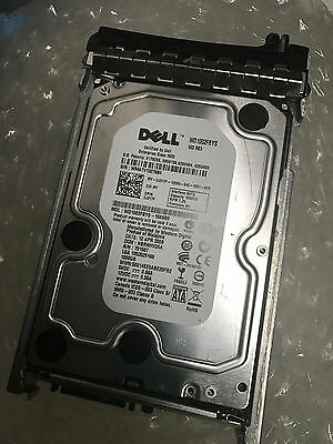 Used Dell WD 1TB  Hard Disk Drive HDD SATA  with  Poweredge Server SAS Caddy