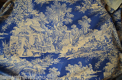 antique French pure cotton toile de Jouy