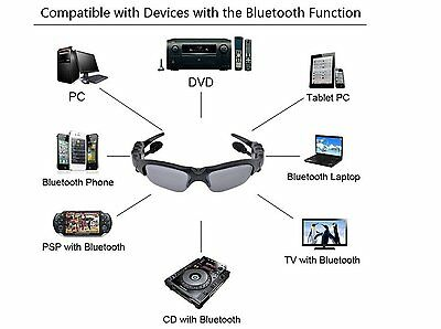 Wireless Motorcycle Glasses Bluetooth MP3 Sun Glasses Headset For Cell mobille