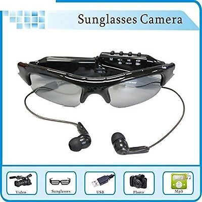 Bluetooth Handsfree Answer And MP3 Video With 720P HD Camera Glasses