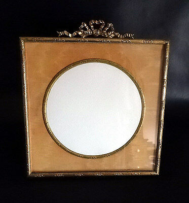 Rare French Antique Square Brass Frame Nap III 1850-Ormulu Bow - Picture Photogr