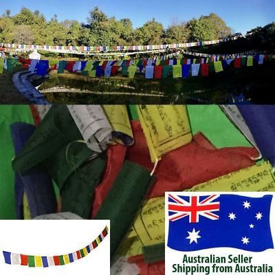 Tibetan Buddhist Spiritual Prayer Flags LUNGTA - 10 Flags in One String - 1.9 m