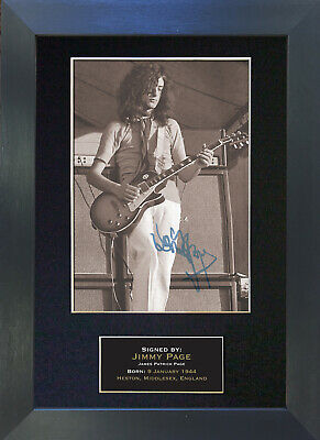 JIMMY PAGE Mounted Signed Photo Reproduction Autograph Print A4 91