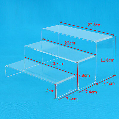 3Pcs Clear Acrylic Display Showcase Stand Rack For Shoes/jewelry/Watch/Cosmetics