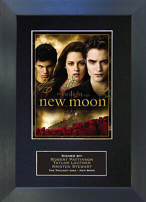 NEW MOON 3 pattinson lautner stewart Signed Mounted Autograph Photo Prints A4 28