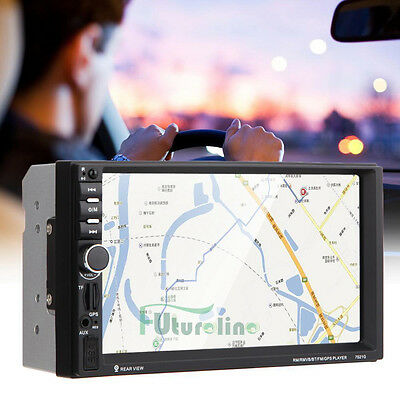 "Double 2DIN Car 7"" MP3 MP5 Player Stereo FM Radio GPS Bluetooth USB AUX Receiver"