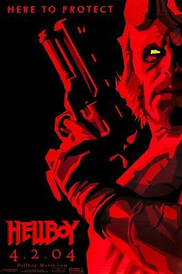 Hellboy  (2004) Original Advance B Movie Poster  -  Rolled  -  Glossy