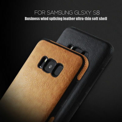 For New Samsung Galaxy S9 / S8 Plus Ultra thin PU Leather Soft Skin Case Cover