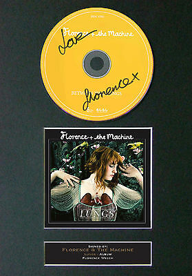 FLORENCE AND THE MACHINE Album Signed CD Mounted Autograph Photo Prints A4 66