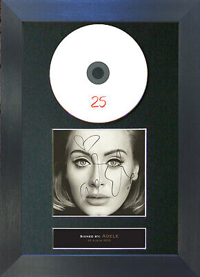 ADELE 25 Signed CD Mounted Autograph Photo Prints A4 70